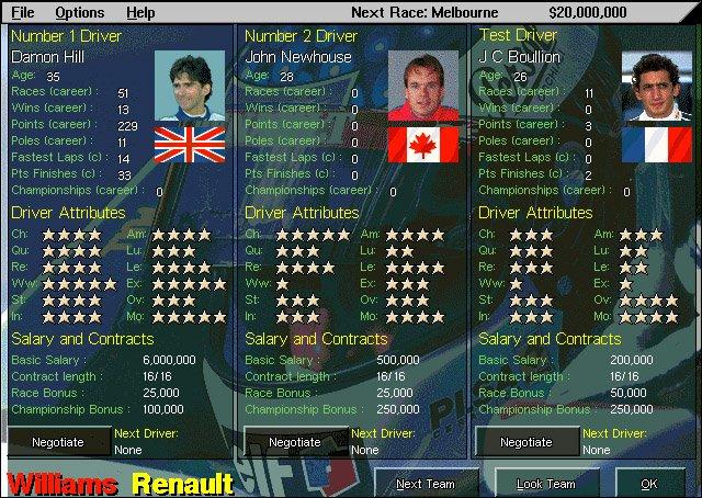 Grand Prix Manager 2 online formula one game